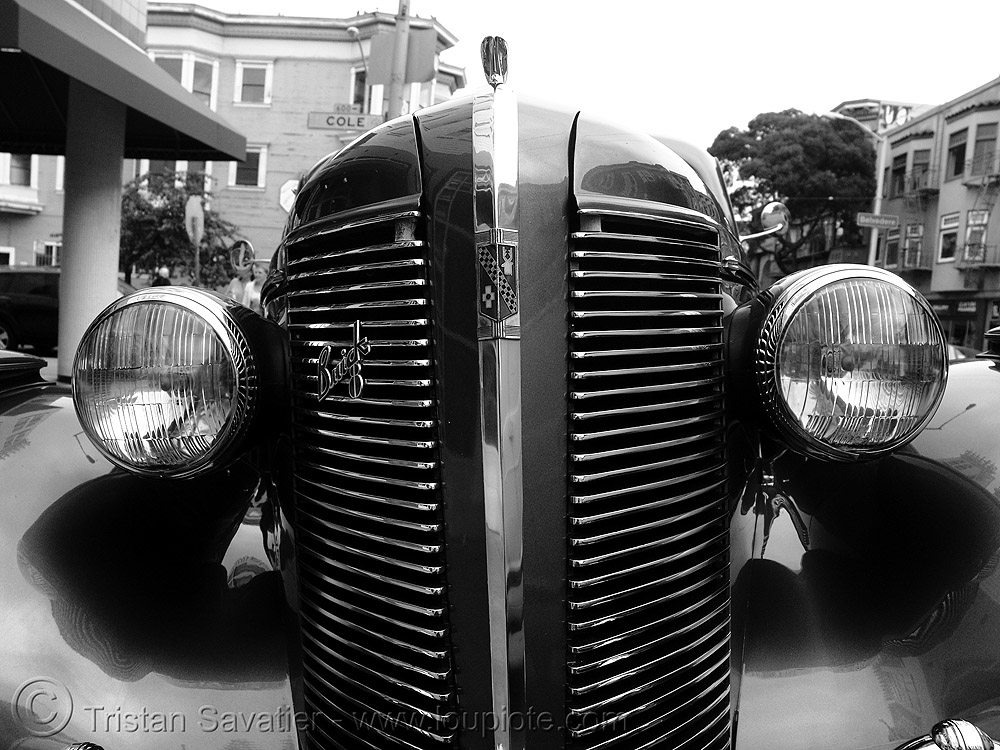 1937 buick century - front - headlights - the american dream, 1937, american dream, automobile, buick century, classic car, from, headlights, johnny stokes, street