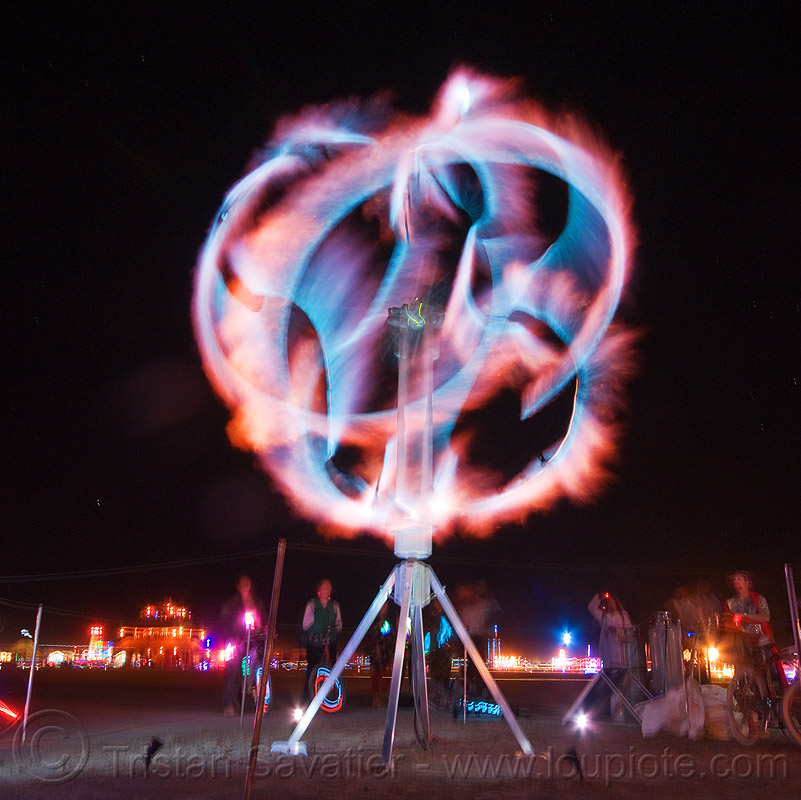 4pyre2 - mobile fire art installation - burning man 2010, 4pyre2, art installation, burning man, fire, natural gas, night, propane gas