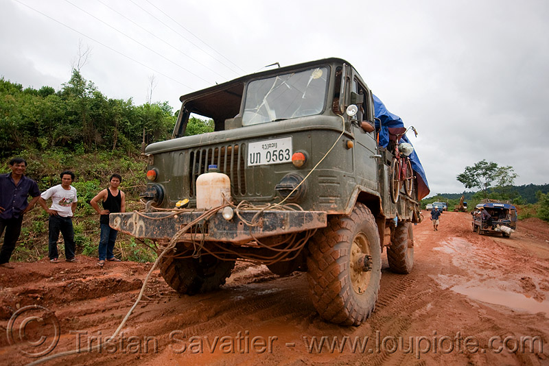ГАЗ-66 - GAZ-66 russian all terrain 4x4 truck (laos), 4x4, all terrain, army truck, gaz-66, gorkovsky avtomobilny zavod, lorry, military truck, mud, road, ruts, tracks, газ-66, го́рьковский автомоби́льный заво́д
