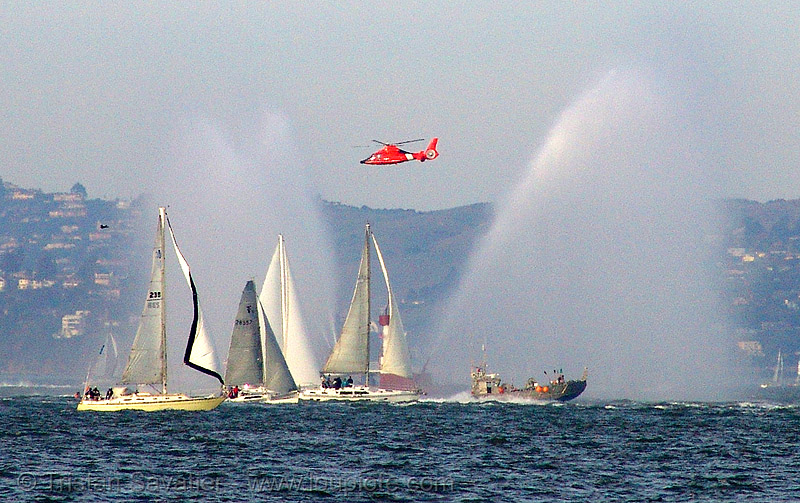A lot of activity on san francisco bay, aircraft, awss, fire boat, helicopter, helo, pump boat, sail boats, san francisco bay, san francisco fire department, sf bay, sffd, ships, us coast guard, uscg