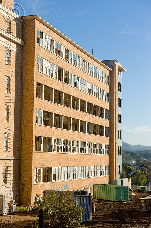 abandoned hospital (presidio, san francisco) - PHSH, abandoned building, abandoned hospital, building demolition, presidio hospital, presidio landmark apartments
