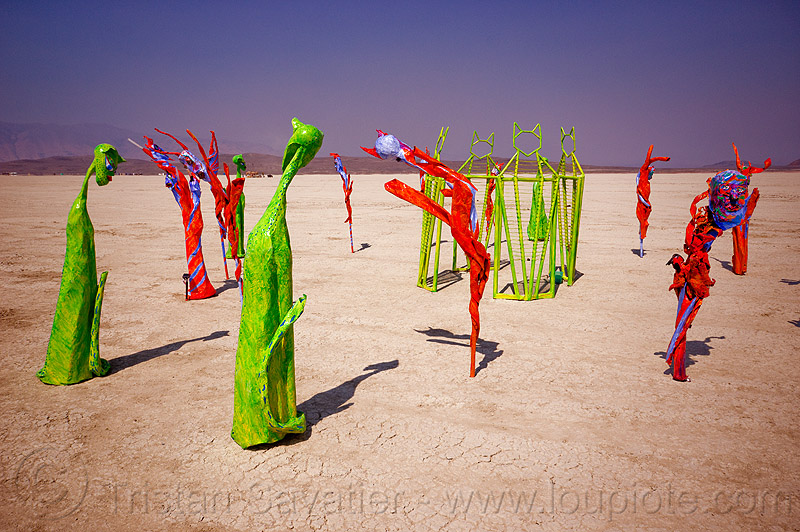 alien cats - burning man 2012, art, art installation, sculpture