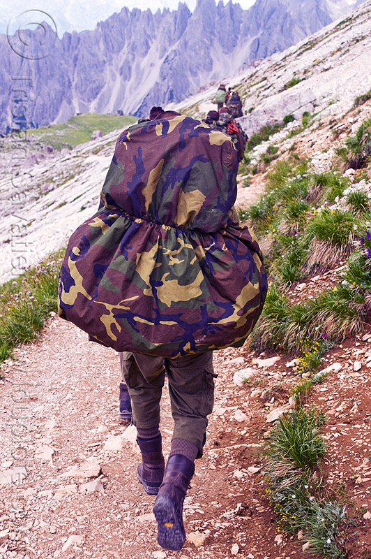 alpini - italian army, alpines, alpini, alps, army green, battledress, boots, camouflage, dolomites, fatigues, heavy backpacks, hiking, italian army, khaki, men, military, mountain infantry, mountain troops, mountains, parco naturale dolomiti di sesto, soldiers, trail, traning, uniform, walking