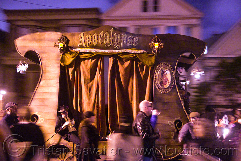 apocalypse stagecoach - dia de los muertos - halloween (san francisco), apocalypse theater, apocalyse, day of the dead, night