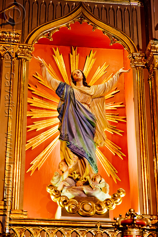 assumption of mary - salta cathedral (argentina), assumption, baroque, cathedral, church, madonna, noroeste argentino, religion, sacred art, salta capital, sculpture, statue, virgin mary
