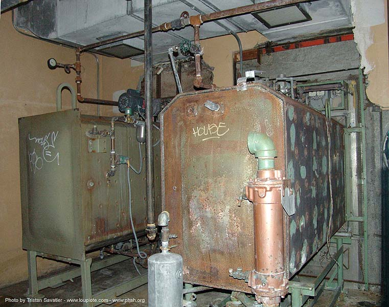 autoclaves - abandoned hospital (presidio, san francisco) - phsh, abandoned building, abandoned hospital, autoclaves, decay, graffiti, presidio hospital, presidio landmark apartments, trespassing