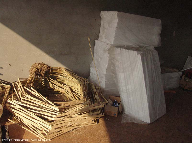 bamboo frames - chinese funeral paper offerings, bamboo, frames, ประเทศไทย
