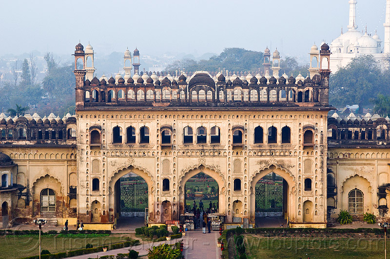 bara imambara gate - lucknow (india), architecture, asafi imambara, bara imambara, gate, india, islam, lucknow, monument, shia shrine