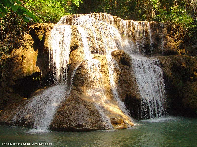 waterfall - thailand, cascade, cave formations, falls, speleothems, water, waterfall, ประเทศไทย