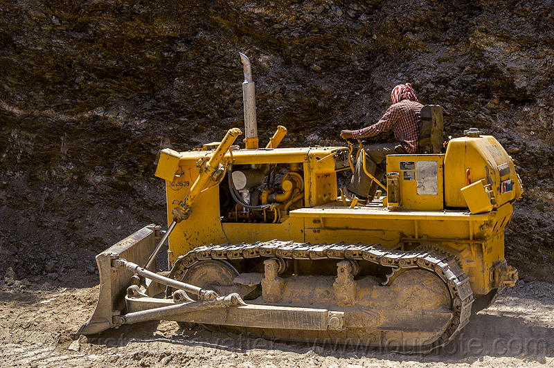 BEML BD50 bulldozer (india), at work, construction, dozer, heavy equipment, hydraulic, landslide, machinery, man, people, road, road construction, roadwork, worker, working
