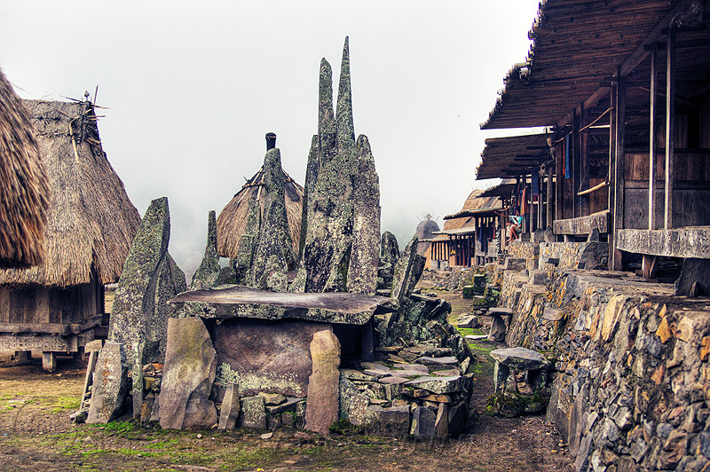 bena primitive village (flores island), archaeology, bena, cemetery, cenotaph, dolmens, flores, fog, foggy, grave, houses, huts, indigenous culture, megaliths, memorial stones, menhirs, monoliths, spirits, standing stones, table-stone, tomb, tombstones, tribal, tribe, village