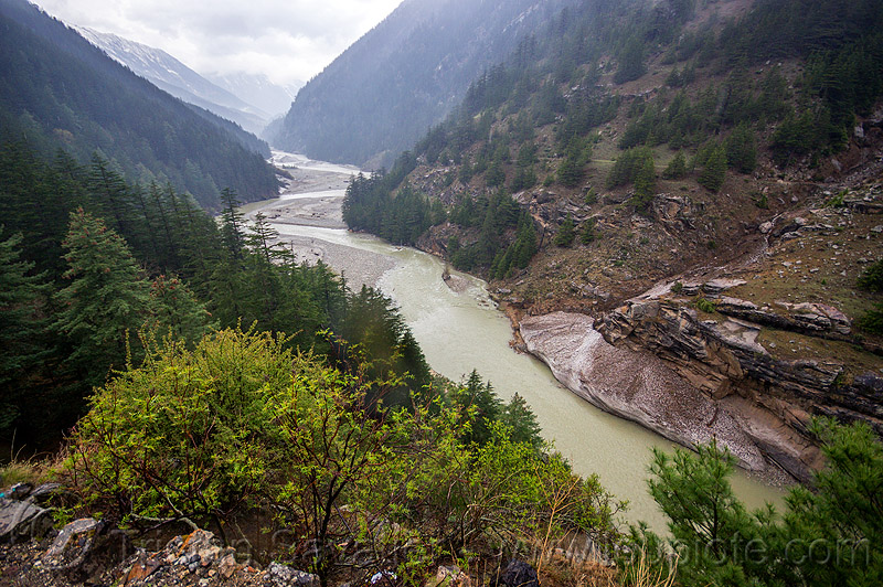 the bhagirathi river on the road to gangotri (india), bhagirathi river, bhagirathi valley, mountains, river bed, water