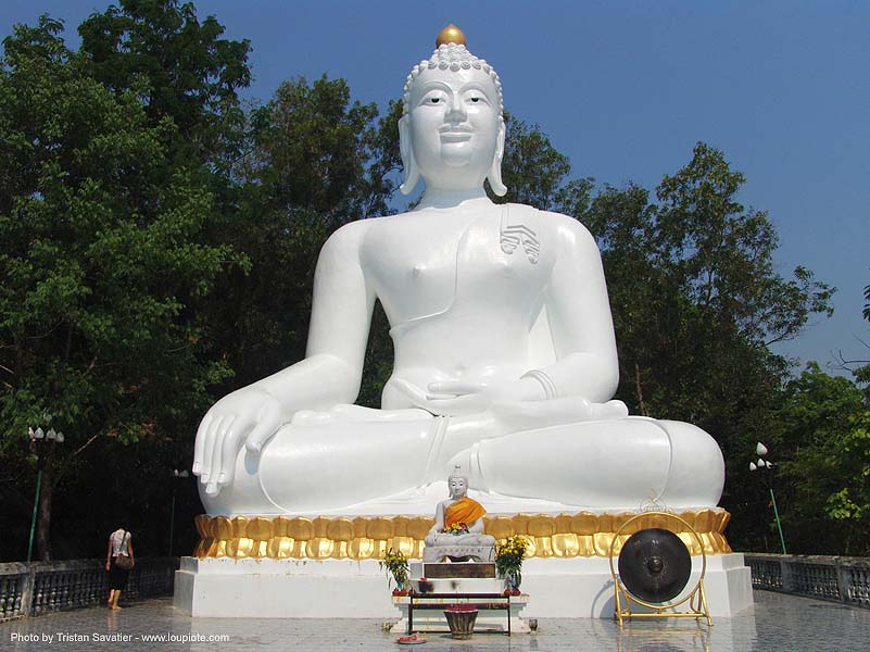 พระพุทธรูป - big white buddha - thailand, buddha image, buddha statue, buddhism, cross-legged, giant buddha, people, sculpture, ประเทศไทย, พระพุทธรูป