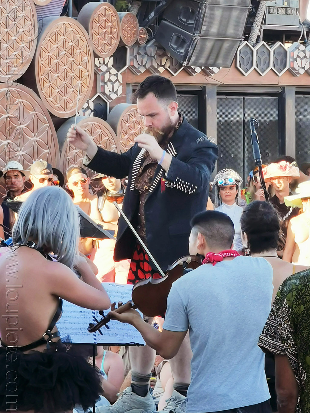 black rock philharmonic - burning man 2019, black rock philharmonic, burning man, classical music, music director, musicians, orchestra director, philharmonic orchestra, violin, violinist