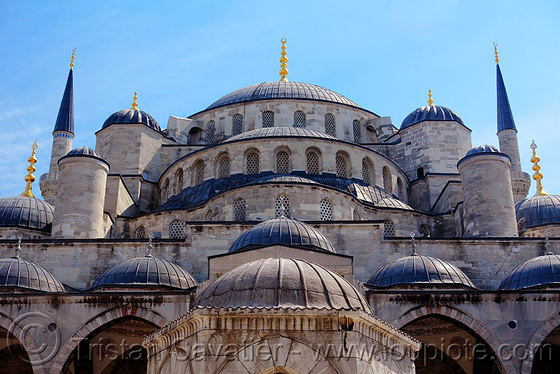 the blue mosque (istanbul), architecture, blue mosque, domes, islam, istanbul, roof, sultanahmet