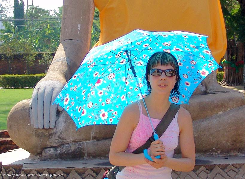 blue umbrella - anke rega, anke rega, blue umbrella, woman, ประเทศไทย