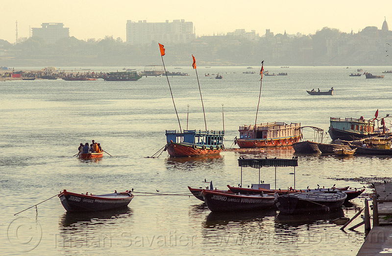 boats on ganga river in varanasi (india), ganga, ganges river, india, river boats, varanasi