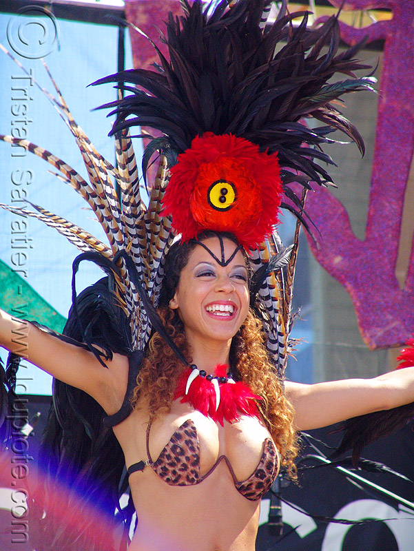 brazil carnival costume - feathers - girl - micaela, brazilian, carnaval, people, samba, san francisco carnival, woman