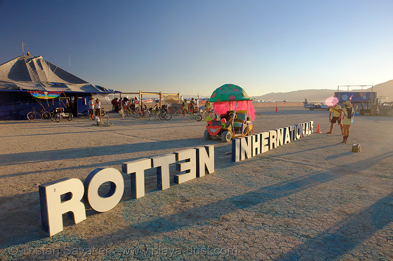 the BRC airport's name keeps changing! - burning-man 2006, art, black rock city airport, brc airport, burning man airport, international airport, letters, sign