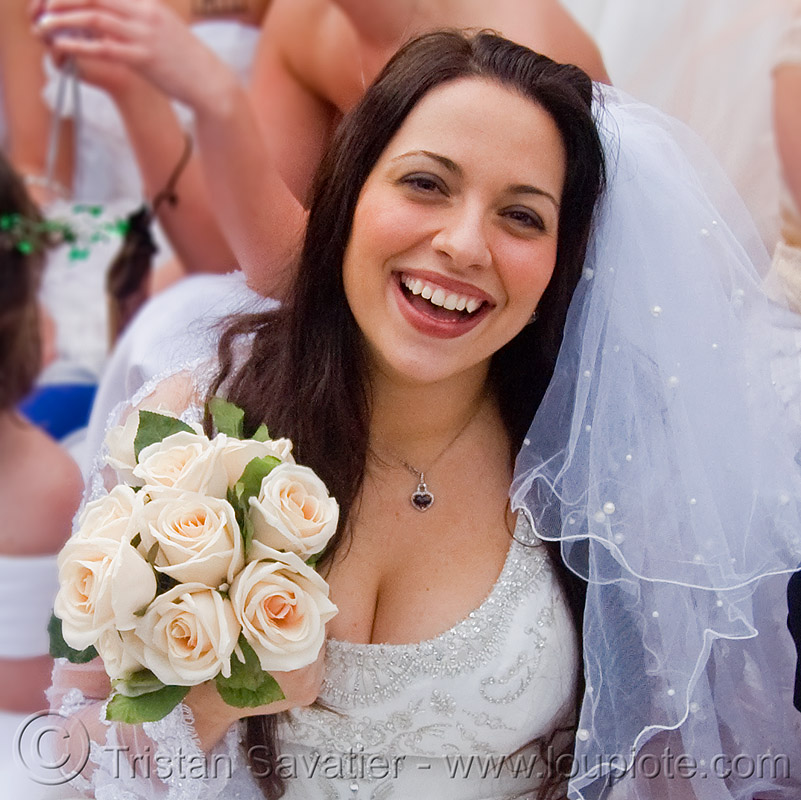 bridal bouquet, brides, brides of march, cleavage, diana furka, festival, flowers, people, wedding, wedding dress, white, white roses, woman