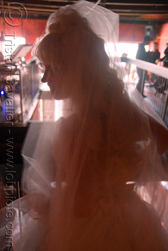 brides of march (san francisco), backlight, bride, brides of march, wedding dress, white, woman