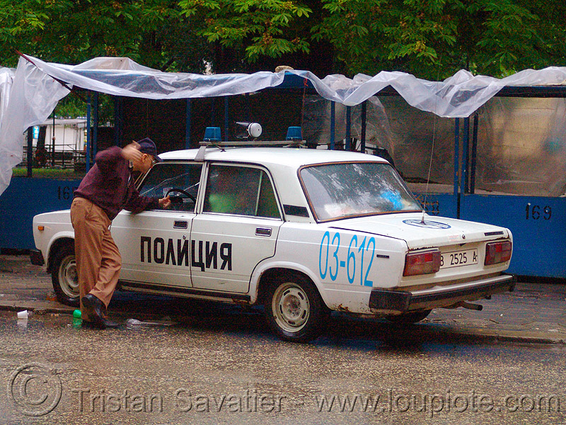 полиция - bulgarian police car - LADA, cops, lada, law enforcement, man, police car, street, българия, полиция