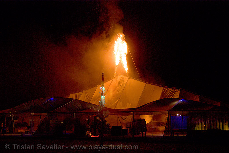 burning man set on fire early due to arson - burning man 2007, burning man, early burn, fire, first burn, first man, man burns early, night of the burn, the man