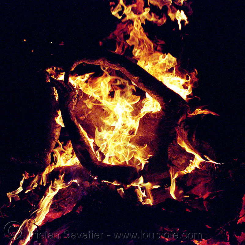 burning woman - burning man 2002, burning man, fire, flames, night, woman