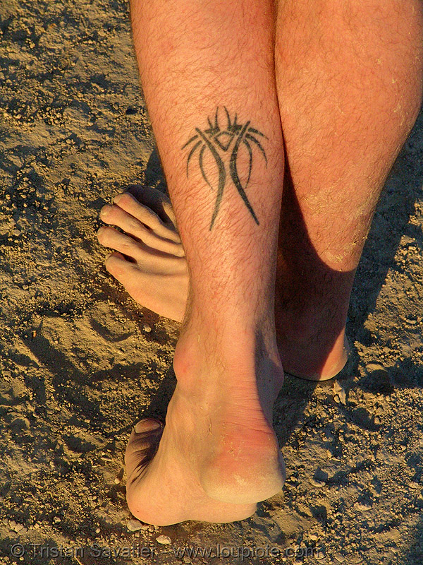 """burning woman"" tattoo - burning man, burning man logo, skin, tattooed, tattoos"