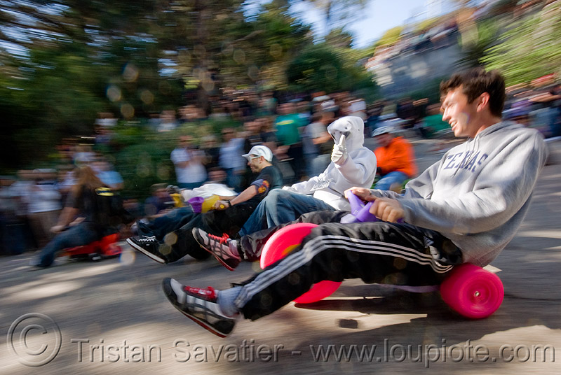 "BYOBW - ""bring your own big wheel"" race - toy tricycles (san francisco), big wheel, drift trikes, moving fast, potrero hill, race, speed, speeding, toy tricycle, toy trike, trike-drifting"