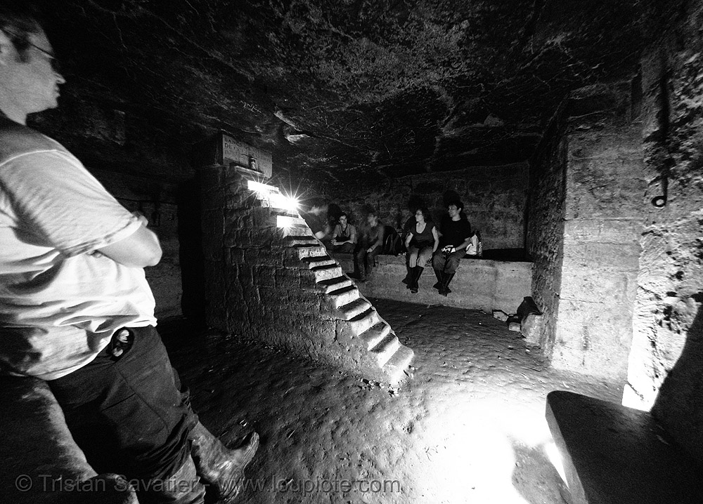 cabinet minéralogique - catacombes de paris - catacombs of paris (off-limit area), cabinet mineralogique, cabinet minéralogique, catacombs of paris, cave, fisheye, underground quarry