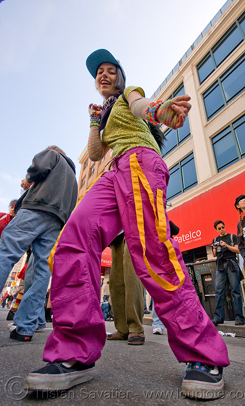 candy kid dancing - how weird street faire (san francisco), dancing, how weird festival, kandi raver, plur, raver outfits, woman, zoey