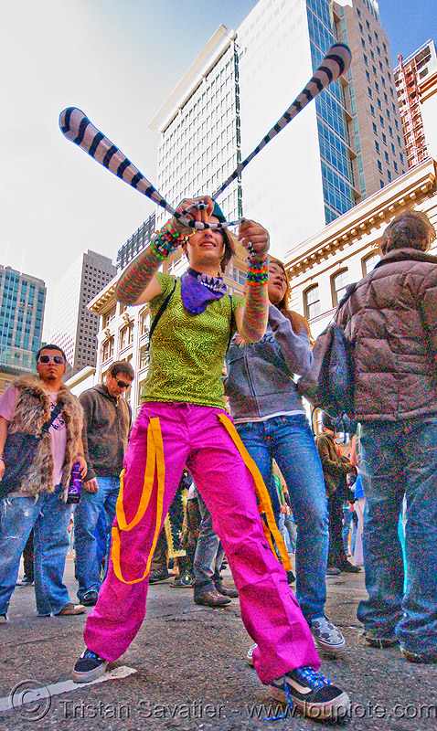 candy kid spinning poi - how weird street faire (san francisco), kandi raver, poi, raver outfits, woman