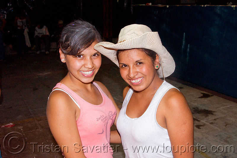 carnaval - carnival in jujuy capital (argentina), andean carnival, carnaval, cowboy hat, friends, girls, jujuy capital, noroeste argentino, san salvador de jujuy, two, women