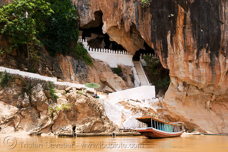 cave on mekong river near luang prabang (laos), cave mouth, caving, natural cave, spelunking
