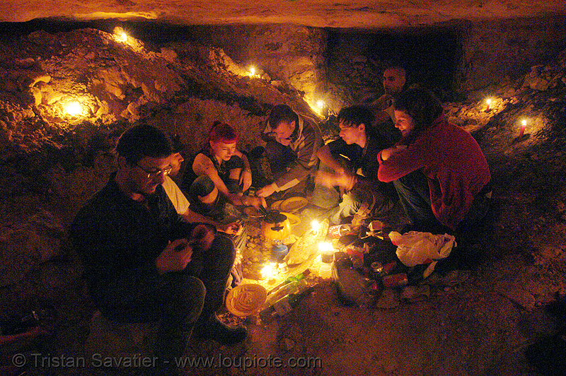 cavers - catacombes de paris - renegade party in the catacombs of paris (off-limit area), bhv, candles, catacombs of paris, cataphiles, cave, clandestines, illegal, pamela, trespassing, underground quarry