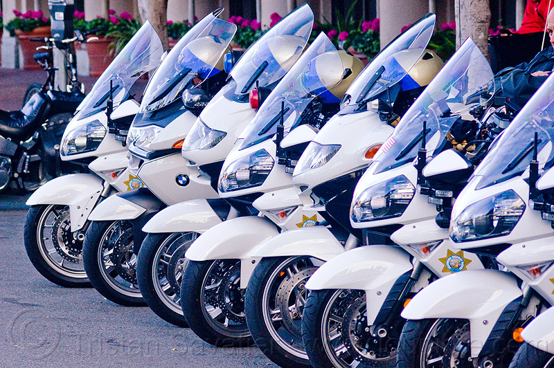 CHP motorcycles, bmw, california highway patrol, chp, kawasaki concours 14 abs, law enforcement, motor cop, motor officer, motorbike, motorbykes, motorcycle helmets, motorcycle police, motorcycles, parked, r1200, r1200rt-p, row, white