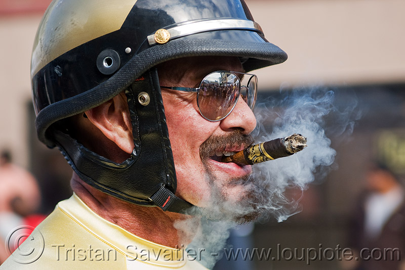 cigar smoking cop, dore alley fair, man, motor cop, motor officer, motorcycle helmet, motorcycle police, people, smoke, sunglasses