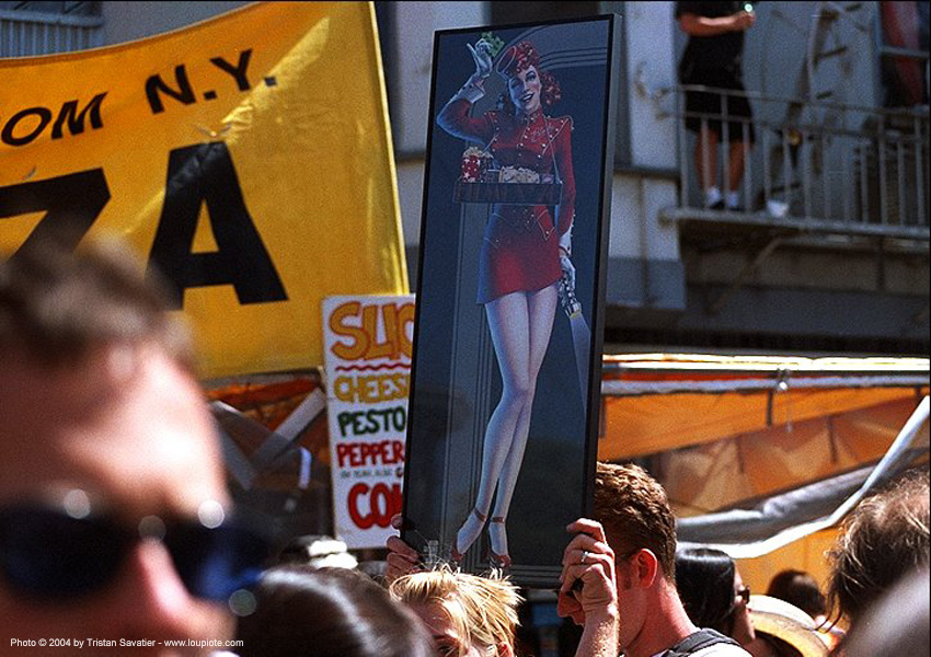 cigarette girl sign (san francisco), cigarette girl, haight st fair