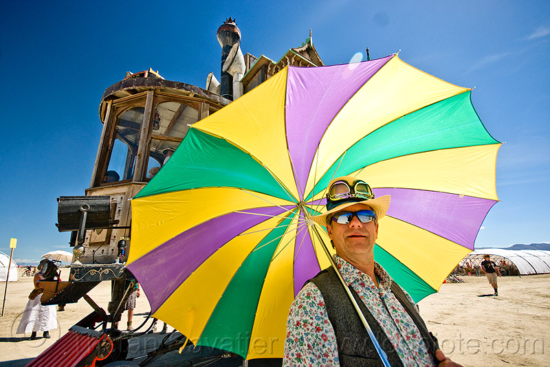 color umbrella, burning man, goggles, hat, neverwas haul, steampunk, sunglasses, umbrella, victorian