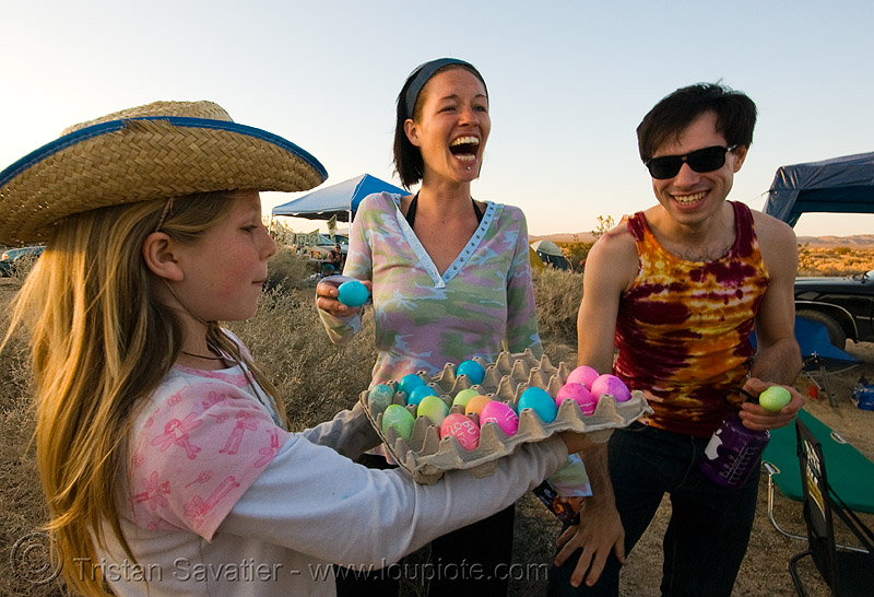 colored easter eggs - rave party in the desert, color eggs, colored eggs, dancing, desert party, easter eggs, psy trance, rave party