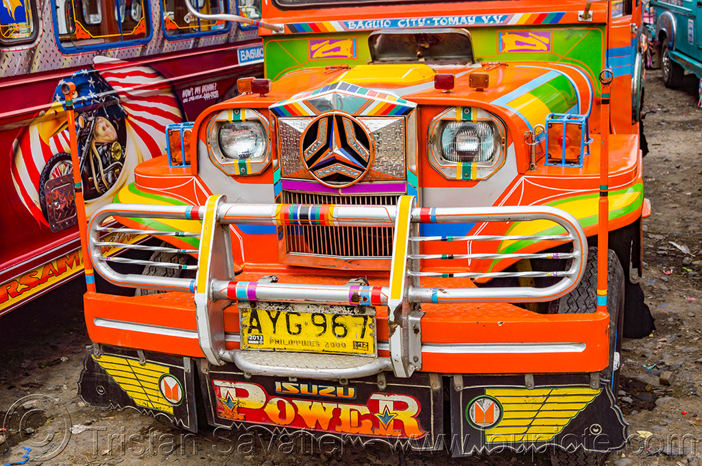 jeepney (philippines), baguio, decorated, jeepney, painted, philippines, public transportation, truck