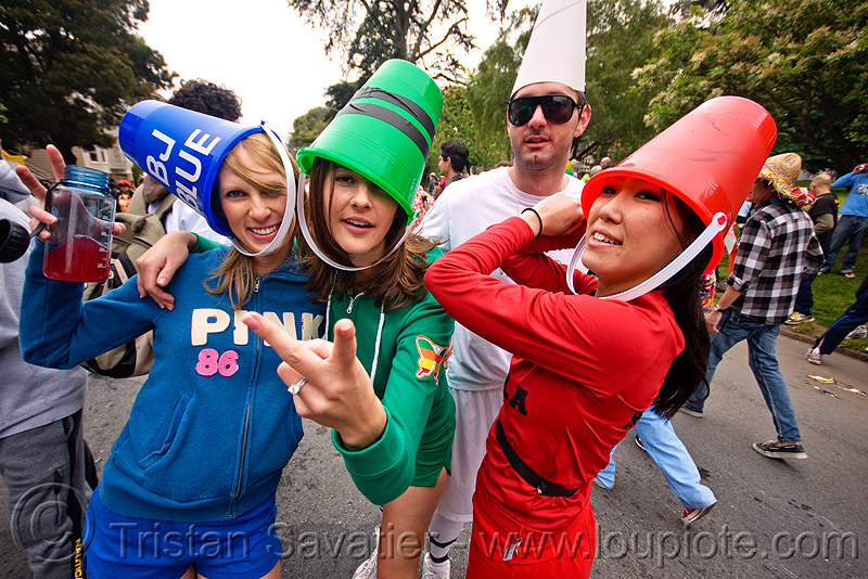 crayolas costumes, bay to breakers, blue, costumes, crayolas, dancing, festival, footrace, green, red, rgb, street party, women