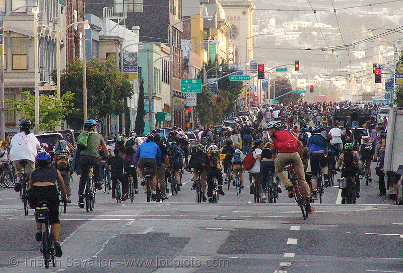 critical mass 27 apr 2007 (san francisco), bicycles, bikes, critical mass, crowd