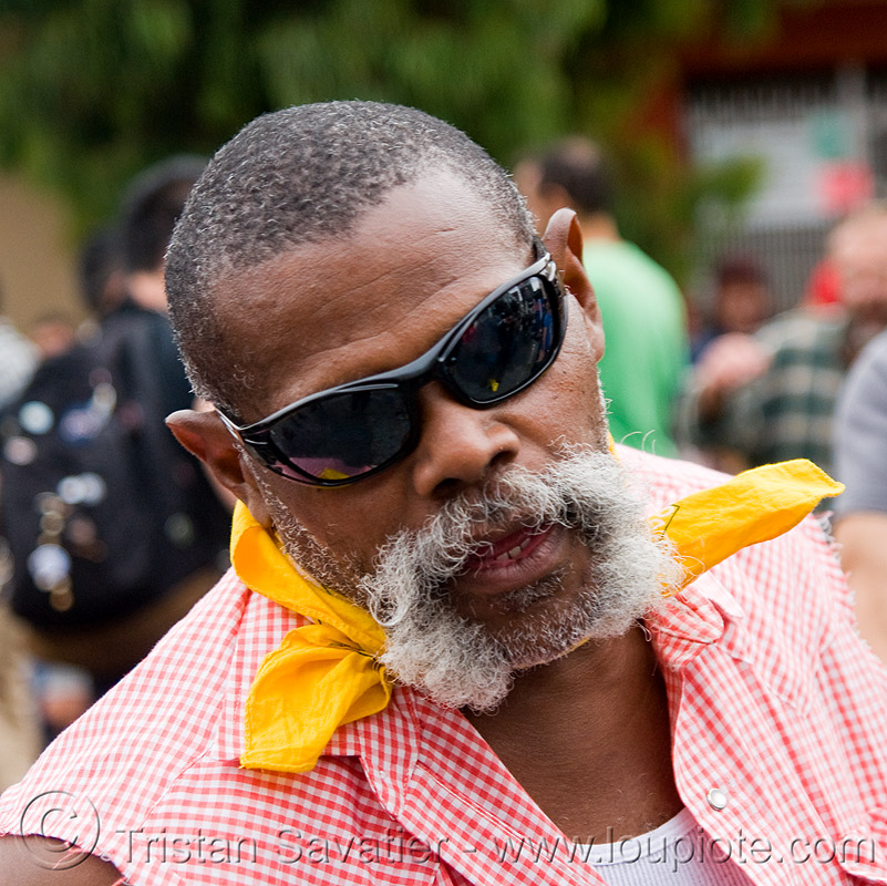 dale - dore alley fair (san francisco), african american man, beard, black man, dale, dore alley fair, white mustache