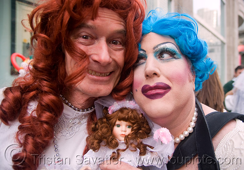 danger ranger aka michele michele - brides of march (san francisco), blue hair, blue wig, brides of march, danger ranger, doll, festival, m2, man, maximum m, michael michael, michael mikel, michele michele, redhead wig, wedding, white