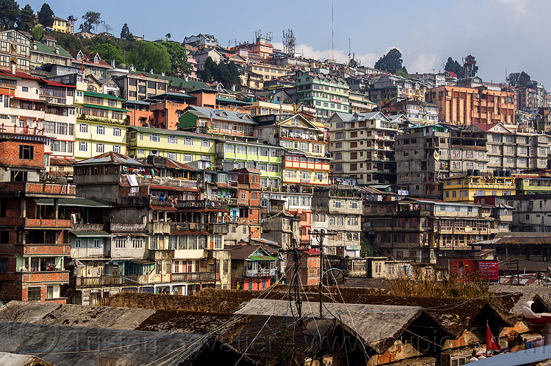 darjeeling cityscape (india), buildings, city, cityscape, darjeeling, hill, houses
