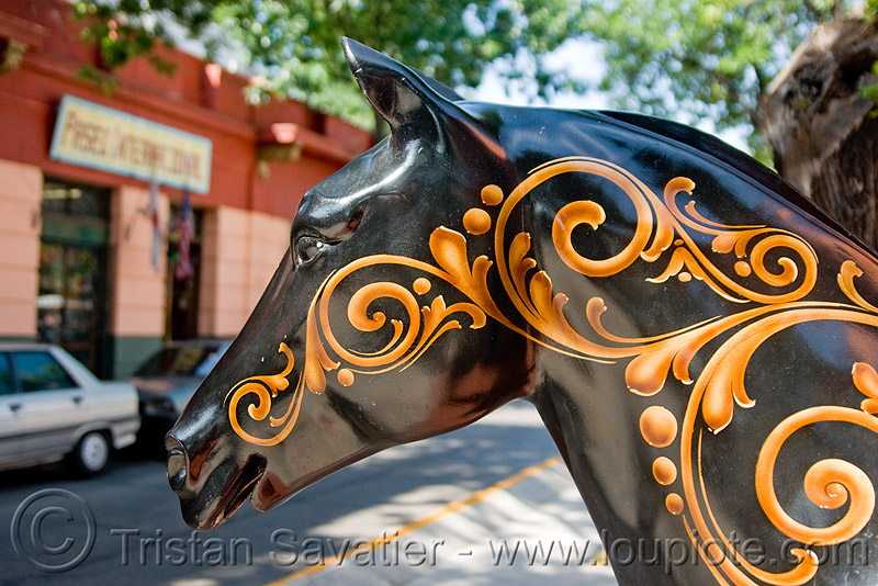 decorated horse sculpture - painted, buenos aires, decorated, el caminito, horse, la boca, painted, sculpture
