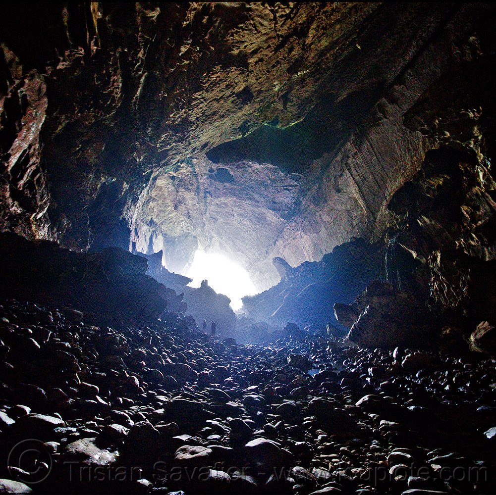 deer cave - mulu, backlight, caving, deer cave, gunung mulu national park, natural cave, pebbles, spelunking, stitched