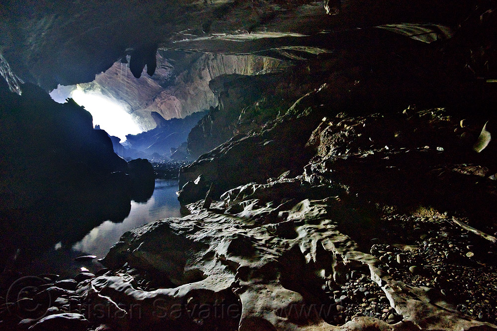 deer cave - mulu (borneo), backlight, caving, deer cave, gunung mulu national park, natural cave, reflection, spelunking, water